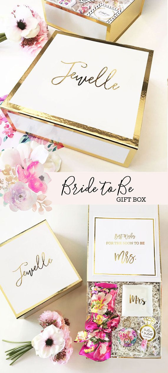 bride to be gift engagement gift basket bridal shower gift for