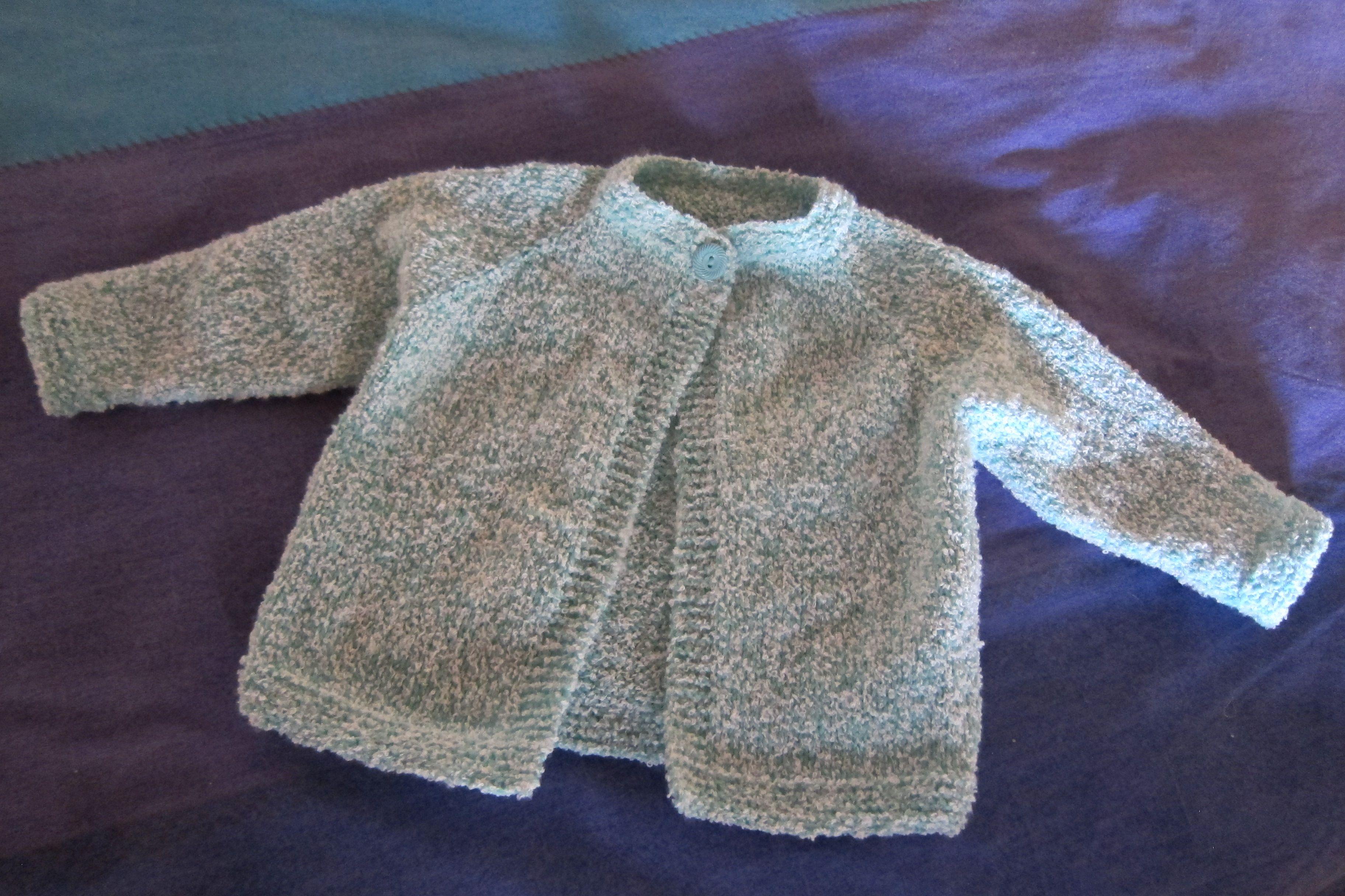 Knitted Top Down Seamless Childs Jacket Haken En Breien