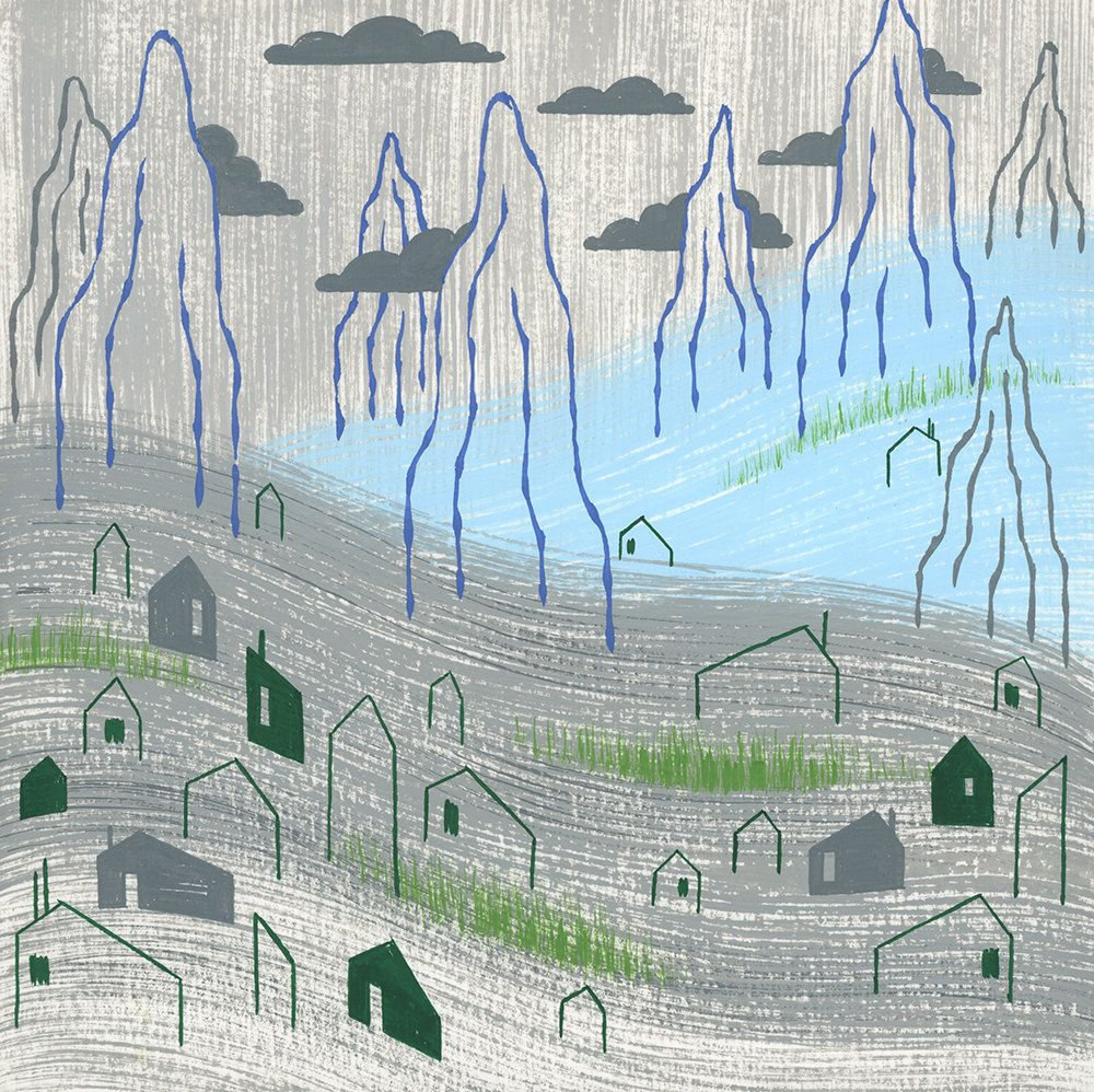 Steel Grey Town by alidouglass on Etsy