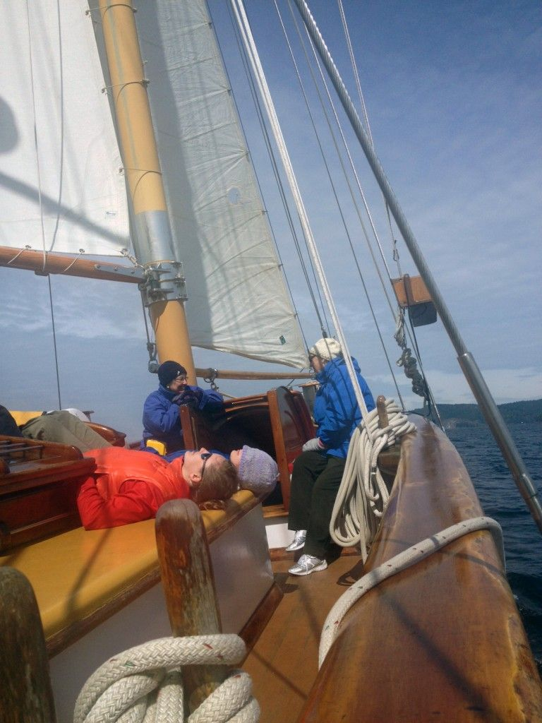 Sailing and relaxing aboard the Maple Leaf. Can it get any better?
