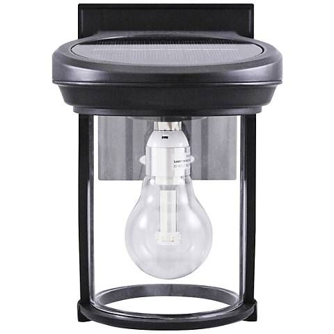 Black coach style 7 12 high solar led outdoor wall light style black coach style 7 12 high solar led outdoor wall light aloadofball Image collections