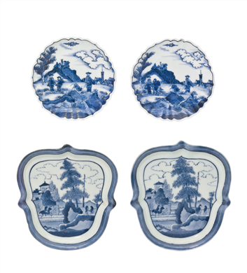 TWO PAIRS OF SMALL ARITA DISHES
