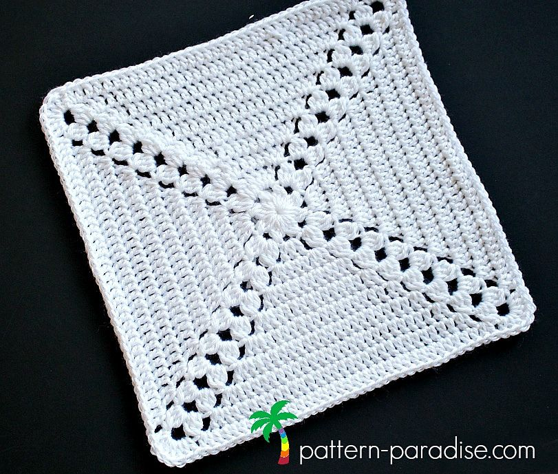 Garden Trellis Afghan Square pattern by Maria Bittner | Tejido ...