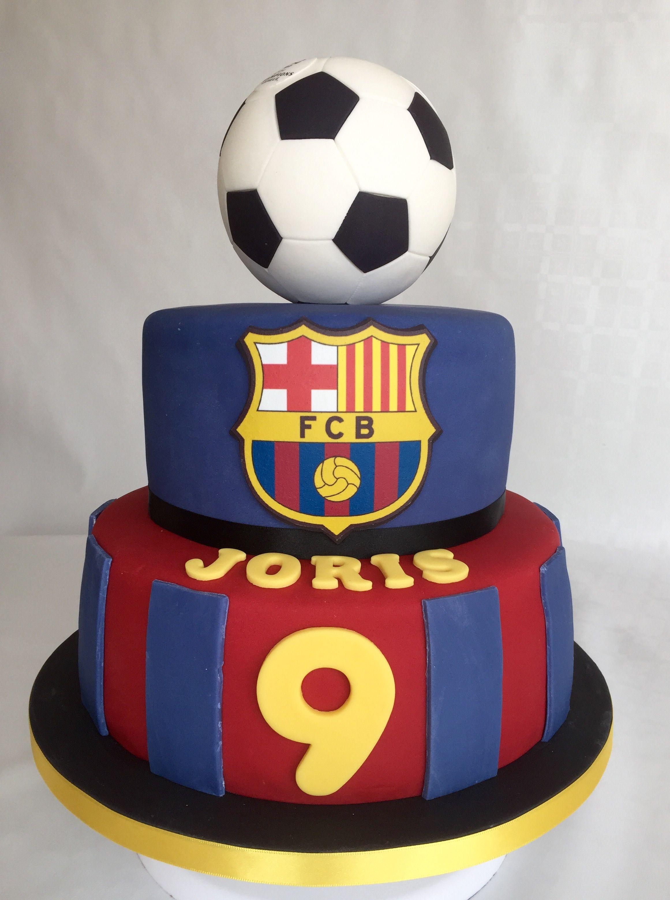 Bolo Barcelona Barcelona Cake By Fe Neves Bolos Com Arte Soccer Birthday Cakes Soccer Cake Soccer Birthday