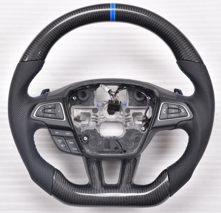 Custom Made Carbon Fiber Steering Wheel For 2015 2017 Ford Focus