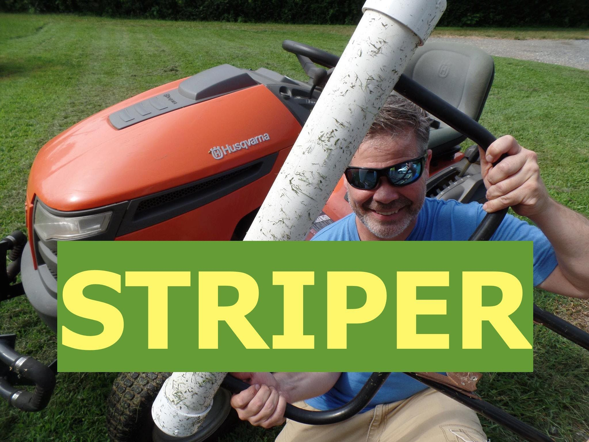Make your own lawn striper easily and then those stripes that