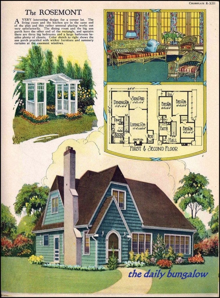 1926 Radford Home Fireside And Garden Sims House Plans Sims House Design How To Plan