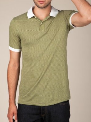 Feeder stripe polo from alternative apparel.  2 colors. claim for $35.