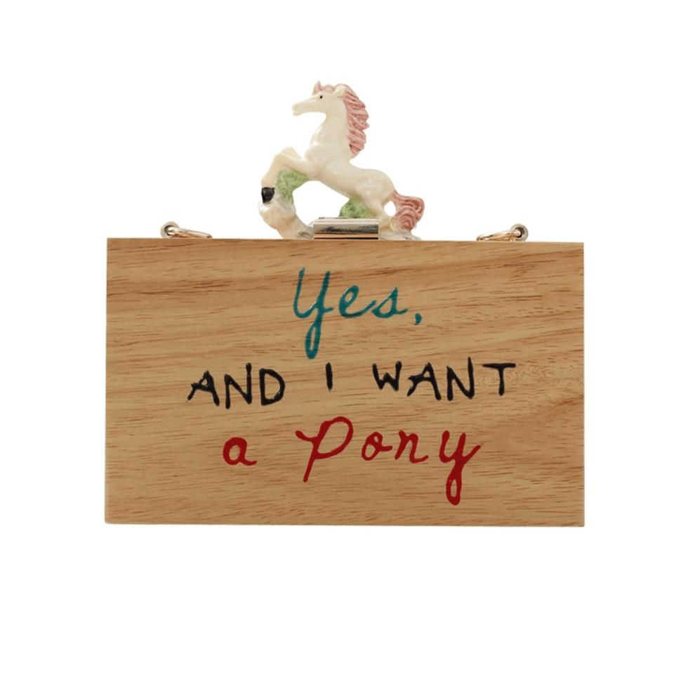 Yes and I want a pony clutch by Cecelia Ma