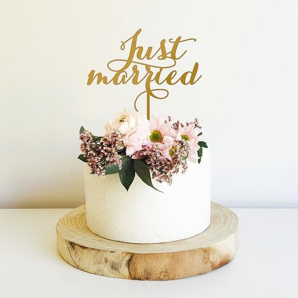 gold wedding cake topper australia just married cake topper cake delivery wedding cake 14834