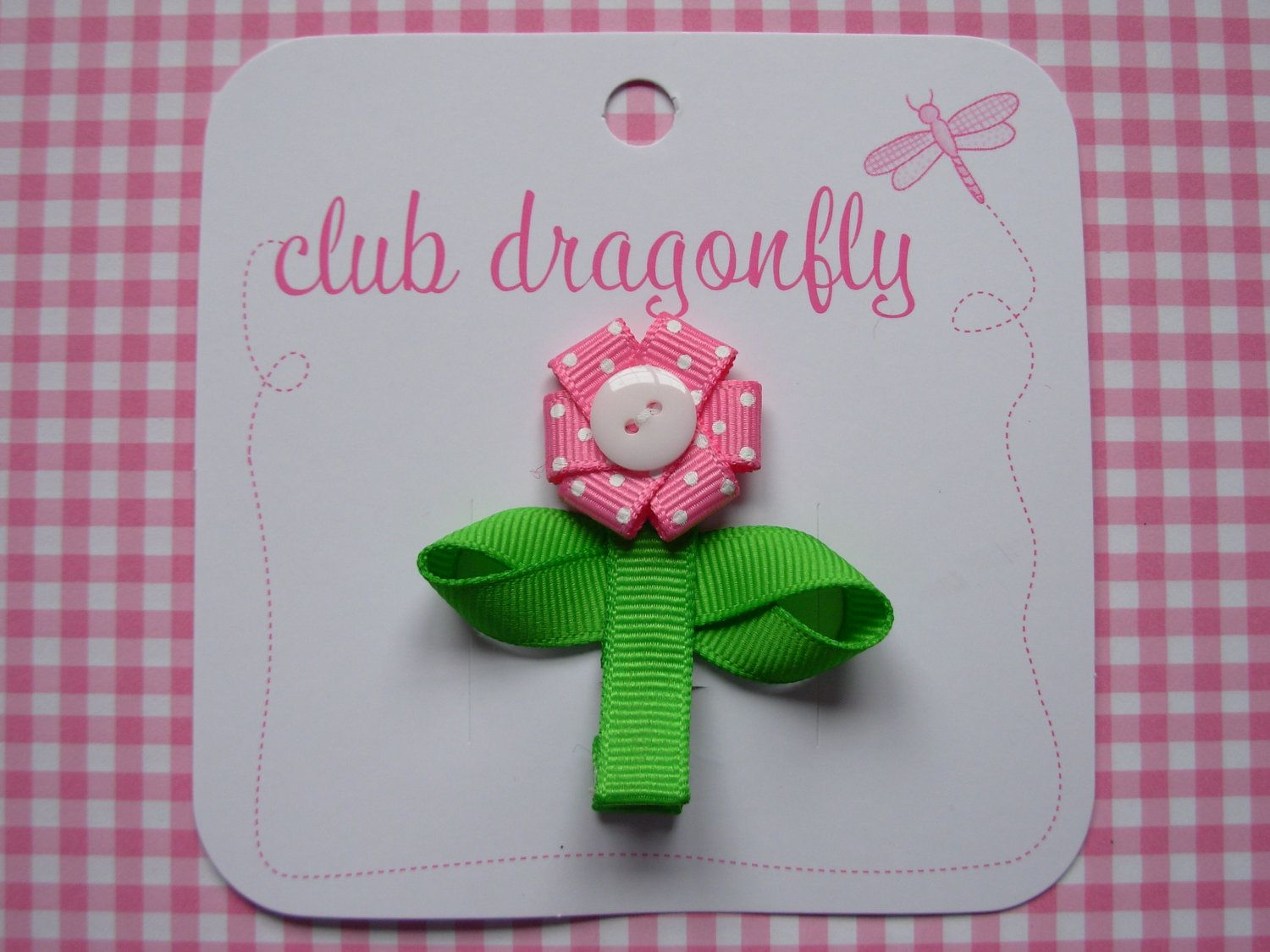 Flower hair clip by clubdragonfly on Etsy