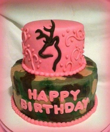 Camo And Pink Browning Birthday Cake Cake By Angel Rushing With