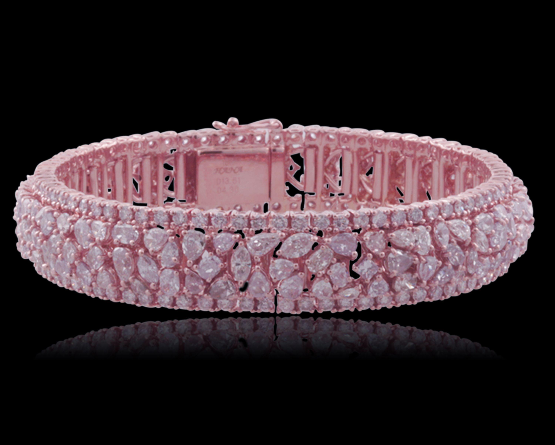 Natural Pink Diamond Bracelet | Diamond Fashion | Pink diamond