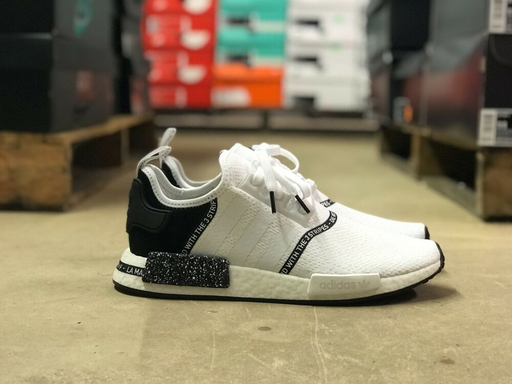 25371ab37bf eBay Sponsored) Adidas Nmd R1 Boost Speckle Pack Mens Shoe White ...