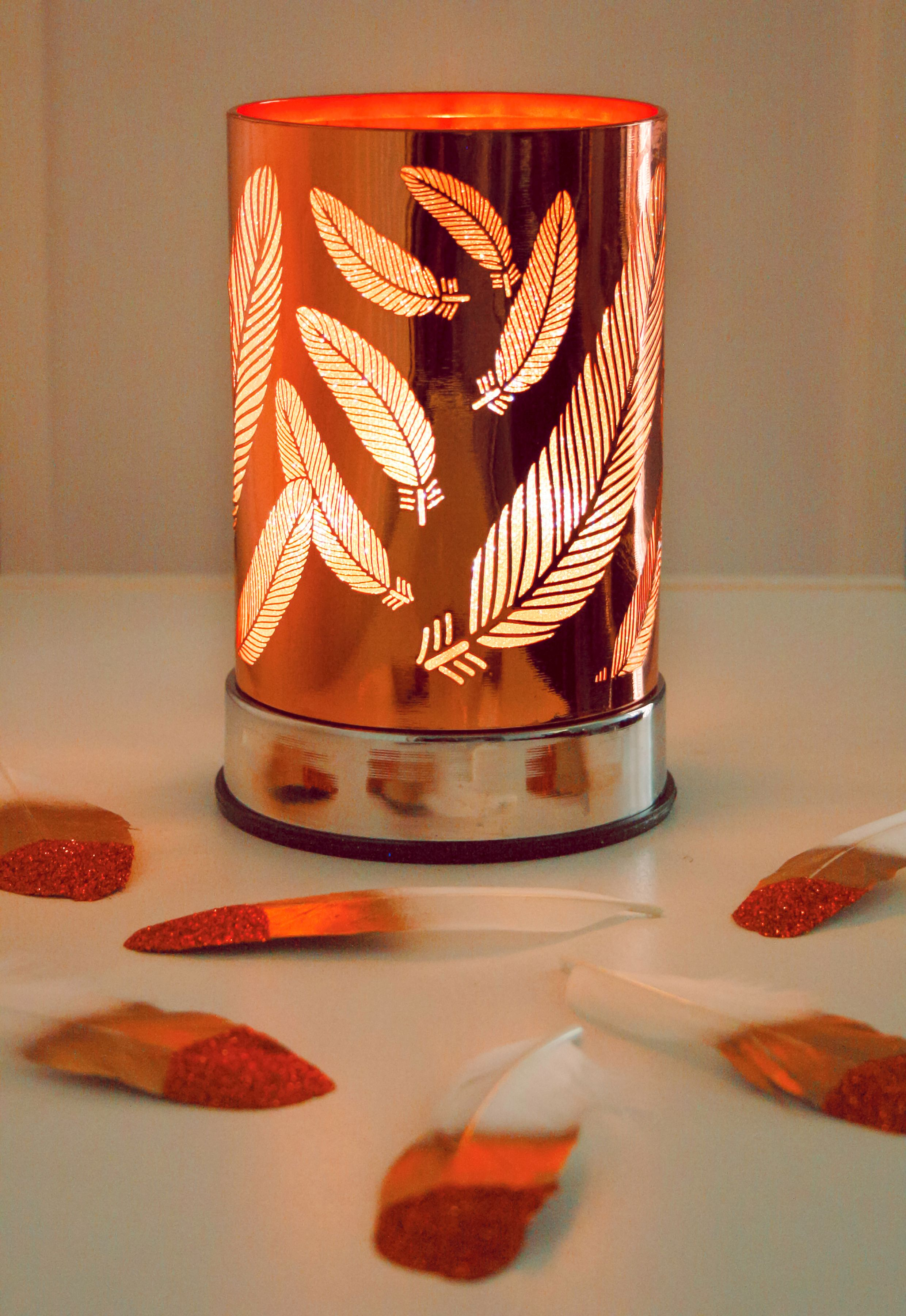 Copper Feather Lantern Scentchips Com Warmers En All Warmers Touch Warmers Copper Feather Lantern Html Scentchipsusa Wax Melters Soy Wax Melts Wax Melts