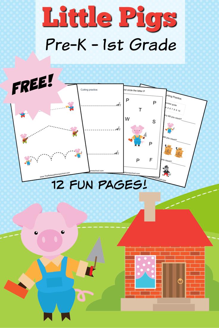 FREE Three Little Pigs Theme Pack | Kleine schweine, Englisch und ...