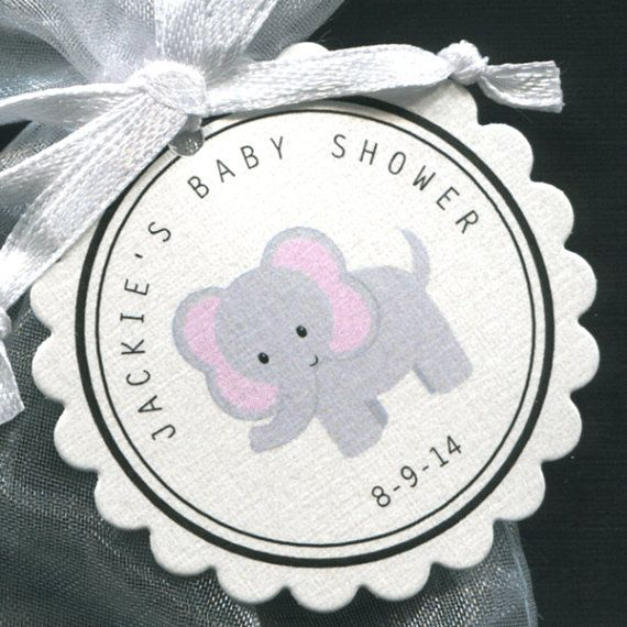 30 Personalized Baby Shower Favor Scalloped Tags Party Favors