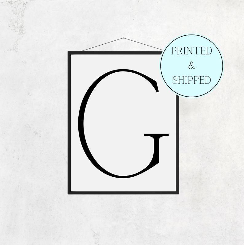 G Print Letter G Print Alphabet Print Letter Print Simple   Etsy