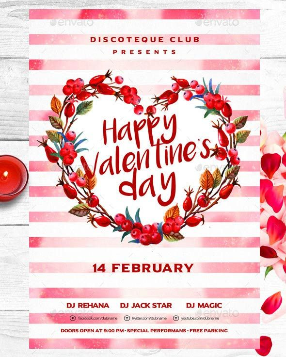 Happy Valentines Day Flyer Psd Template Download 17 Best