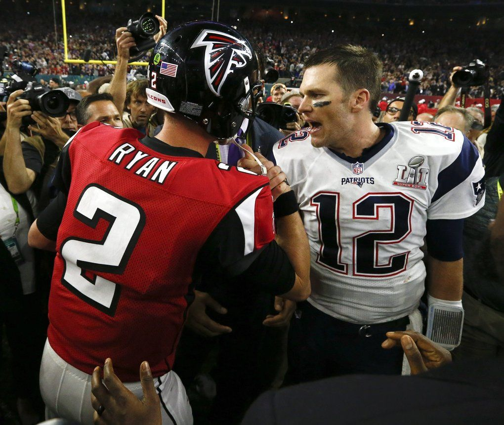 Super Bowl Li The First Half Belonged To Ryan And The Falcons The Game Goes To Brady And The Patriots New England Patriots Patriots Super Bowl Li