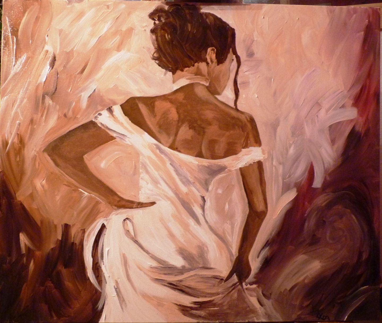 Toile Acrylique Femme Danseuse Flamenco Flamenca Peintures Par