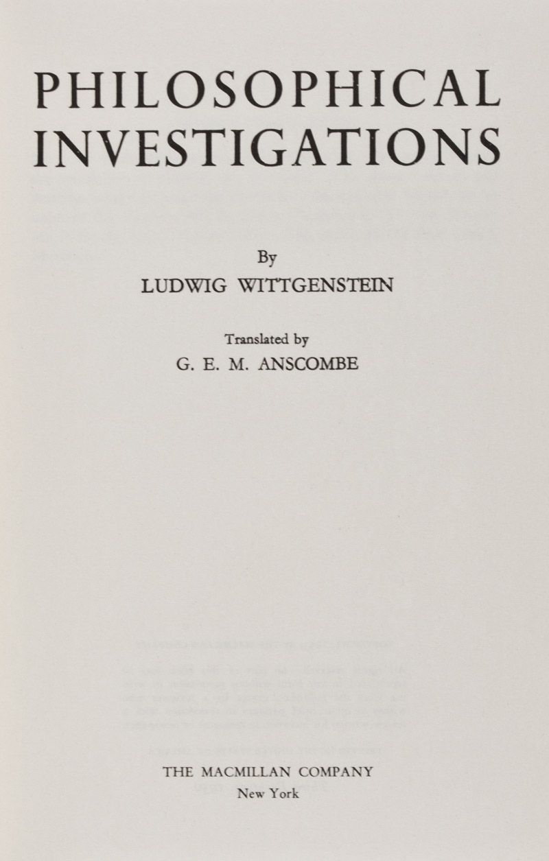 Ludwig Wittgenstein Philosophical Investigations 1953 Ludwig Wittgenstein Words Philosophy
