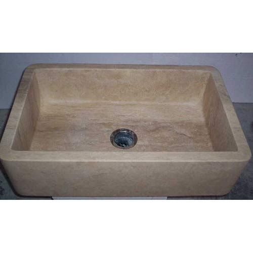 Travertine Farm Sink: Barclay Products Gannon White 30-Inch Single Bowl Fireclay