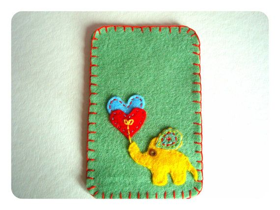 Phone case felt cover Felt cover Felt by SunflowersWonderland