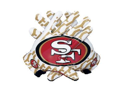 Nike Lockup (NFL 49ers) Men's Football Gloves - $100
