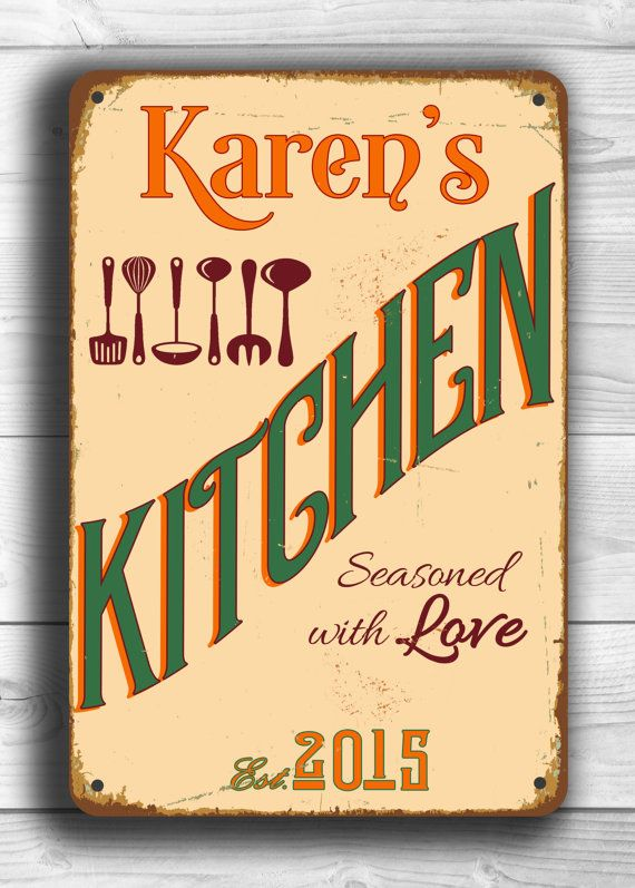 CUSTOM KITCHEN SIGN Personalized Kitchen Sign By ClassicMetalSigns