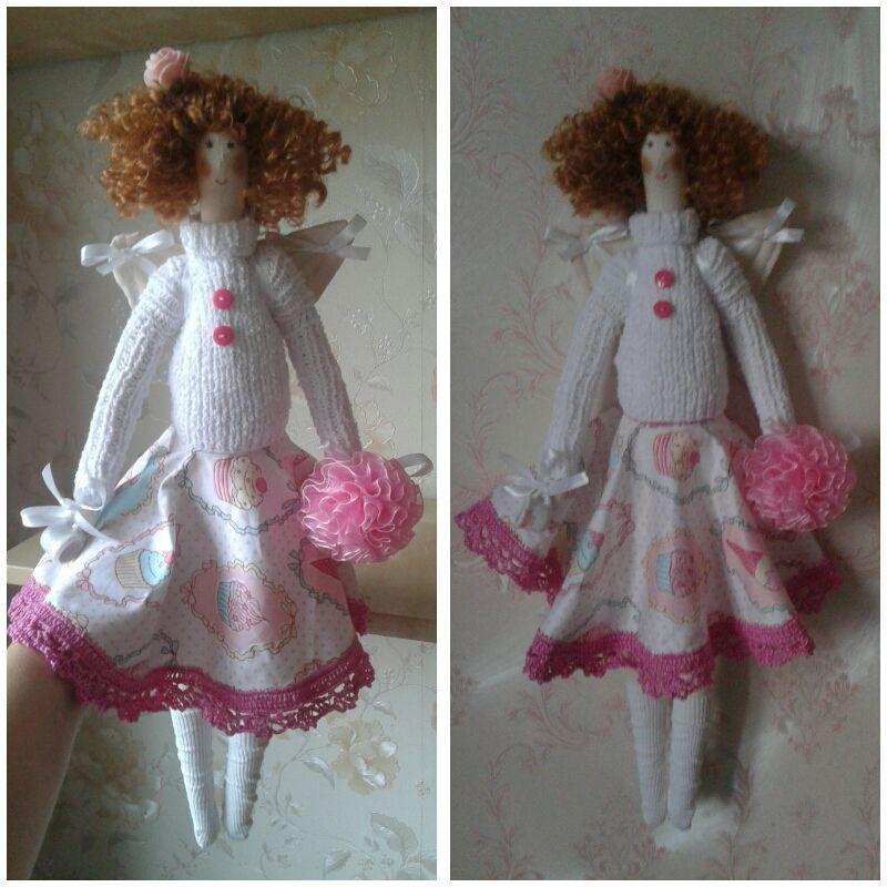 Купить Фея пирожных Вика - тильда, кукла ручной работы, текстильная кукла