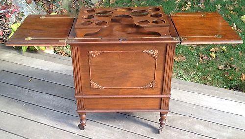 Delicieux Antique Pop Up Liquor Cabinet Side Table Bar Drink Cart Cocktail Server  Hidden | Antiques, Furniture, Sideboards U0026 Buffets | EBay!