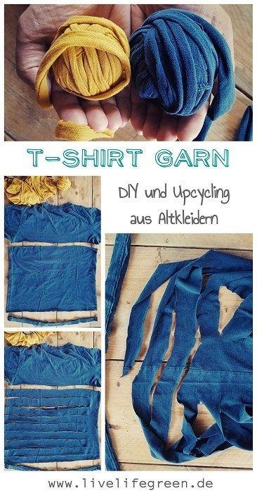 T-Shirt Garn - Einfaches Upcycling von Altkleidern | livelifegreen
