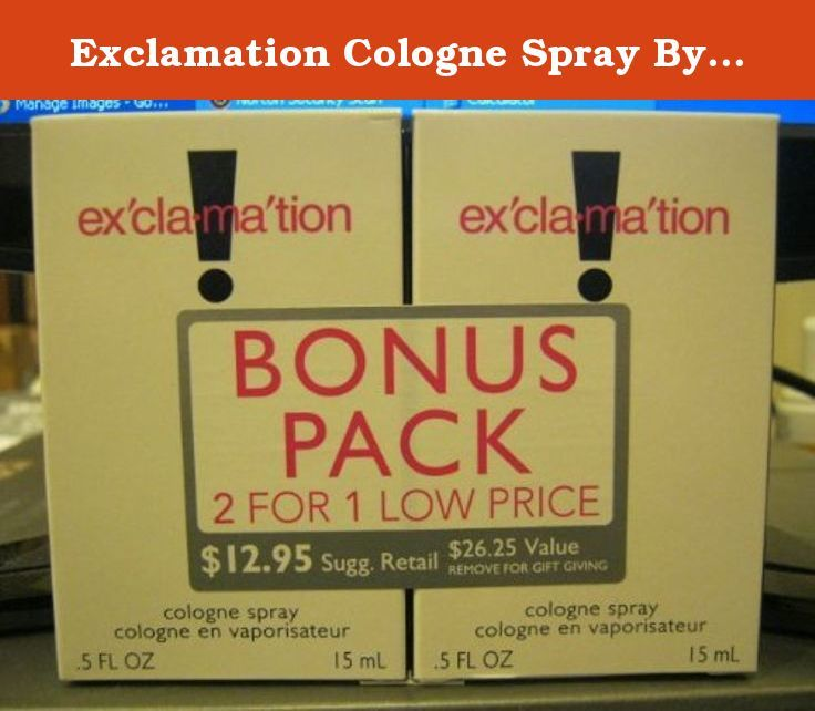 Exclamation Cologne Spray By Coty 5 Fl Oz Bonus Pack 2 Bottles