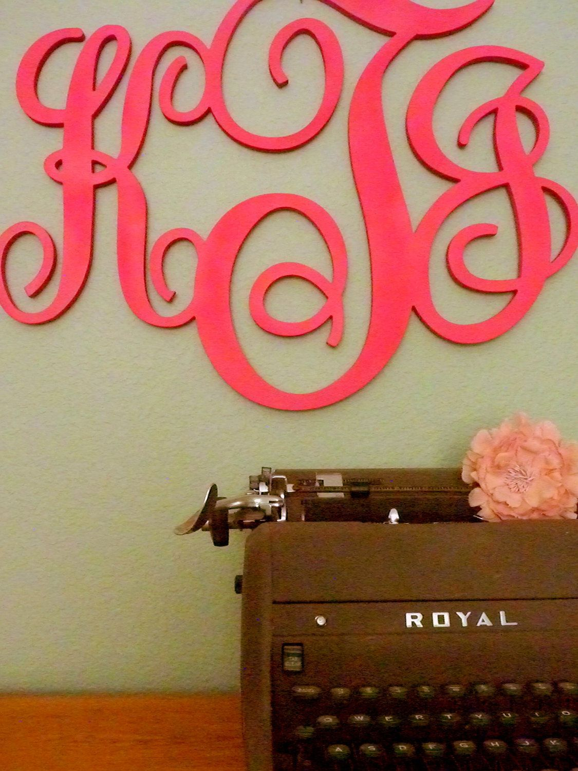 Monogram Letters For Wall Extra Large Custom Monogram Decor Wooden Initials Wall Letters
