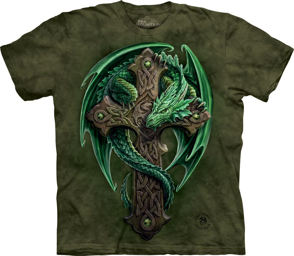The Mountain Stokes Woodland Guardian Dragon Nature Fantasy T Tee Shirt 104898