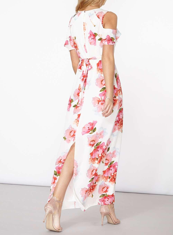 ad27a9bf65 Ivory Floral Print Maxi Dress   Dorothy Perkins Wishlist   Floral ...