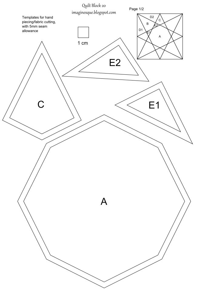 Printable English Paper Piecing Templates | ... templates, english ...