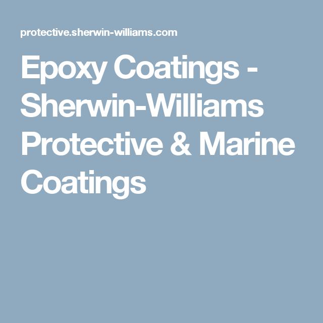 Epoxy Coatings Sherwin Williams Protective Marine Coatings