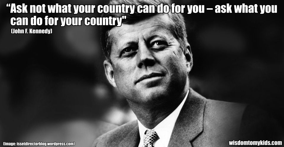 Inspirational Quote By John F Kennedy From Inauguration Speech