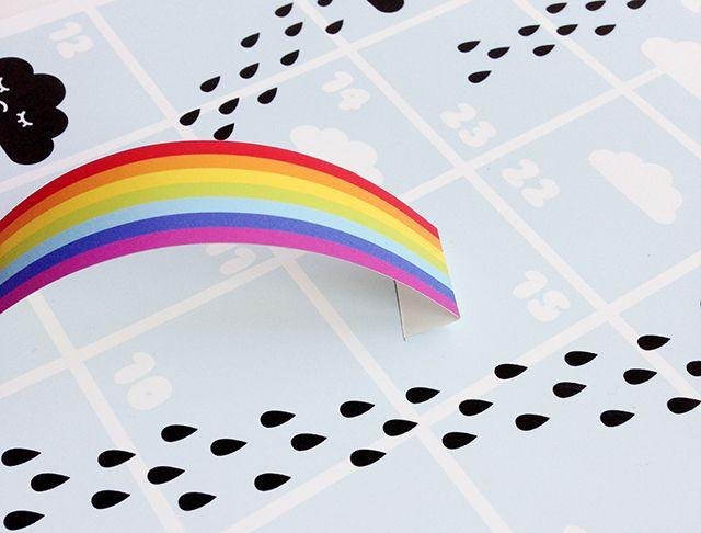 Rain \ Rainbows Board Game - Mr Printables ot stuff Pinterest - rainbow template
