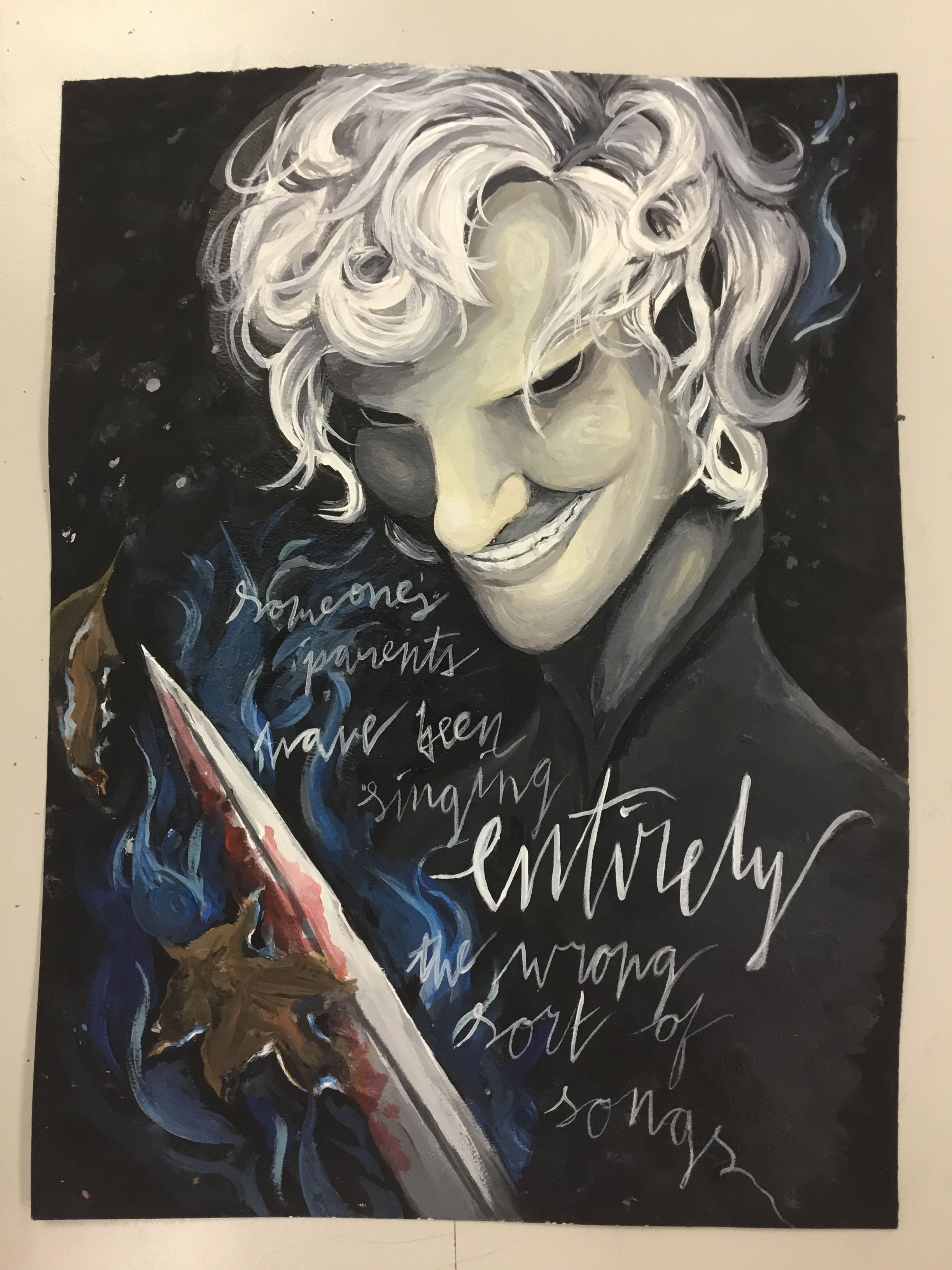 I Painted Cinder From Name Of The Wind My Friend Kylah Wrote
