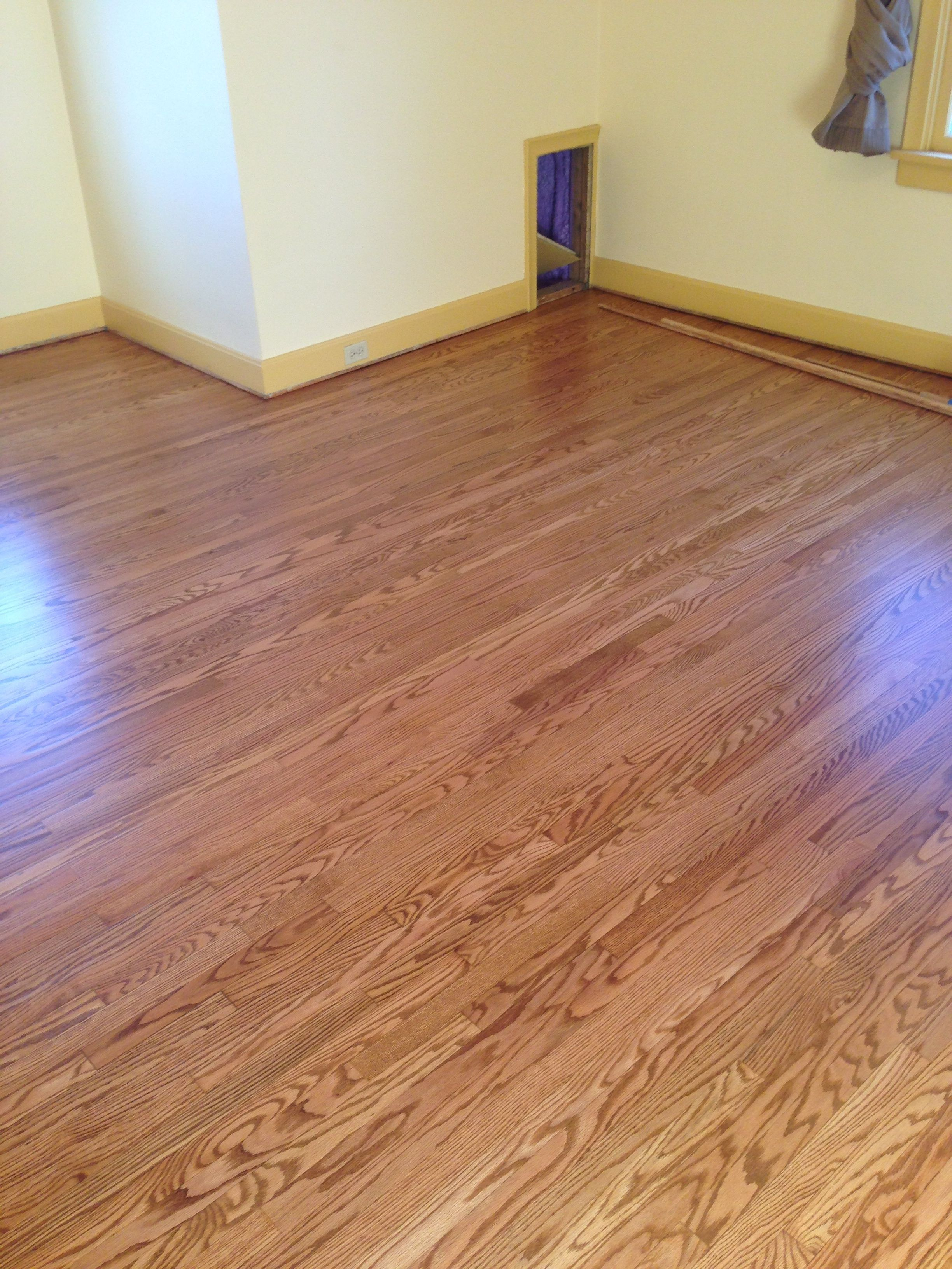1950s 2 1 4 Red Oak Hardwood Floor Refinished By Smithbrosfloors Com Hardwood Design Hardwood Floors Living Room Wood Floor