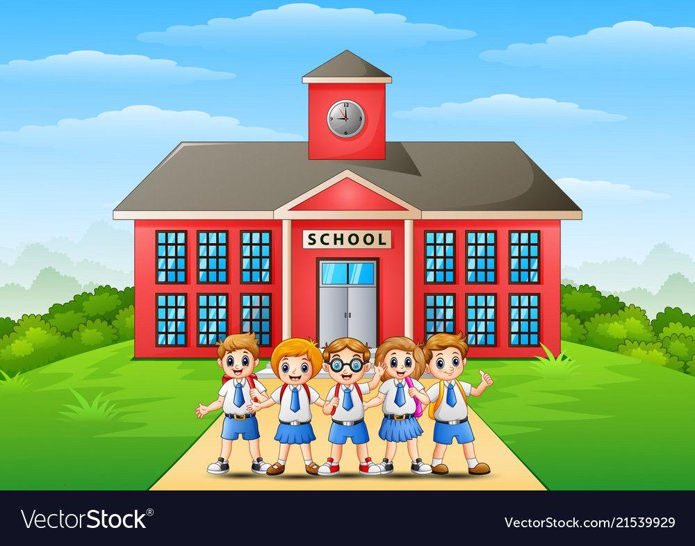 Clip Art School Building