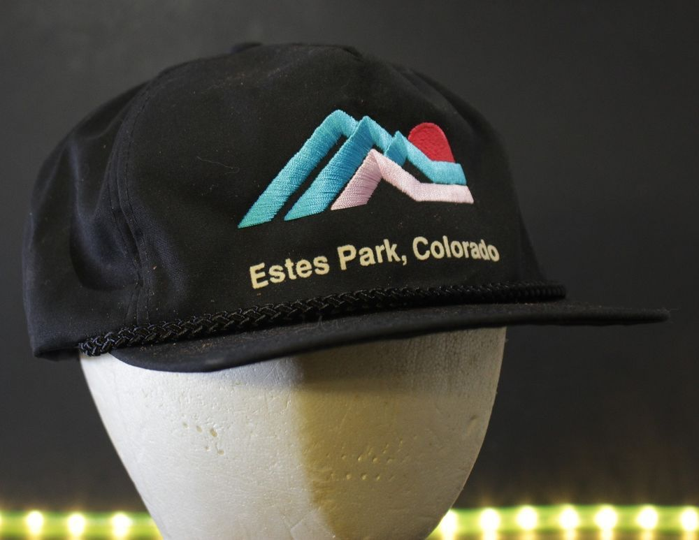 15dafbcf Estes Park Colorado Hat Cap Retro Black Blue Red Hipster One Size Mountains  #ActionAccessories #BaseballCap