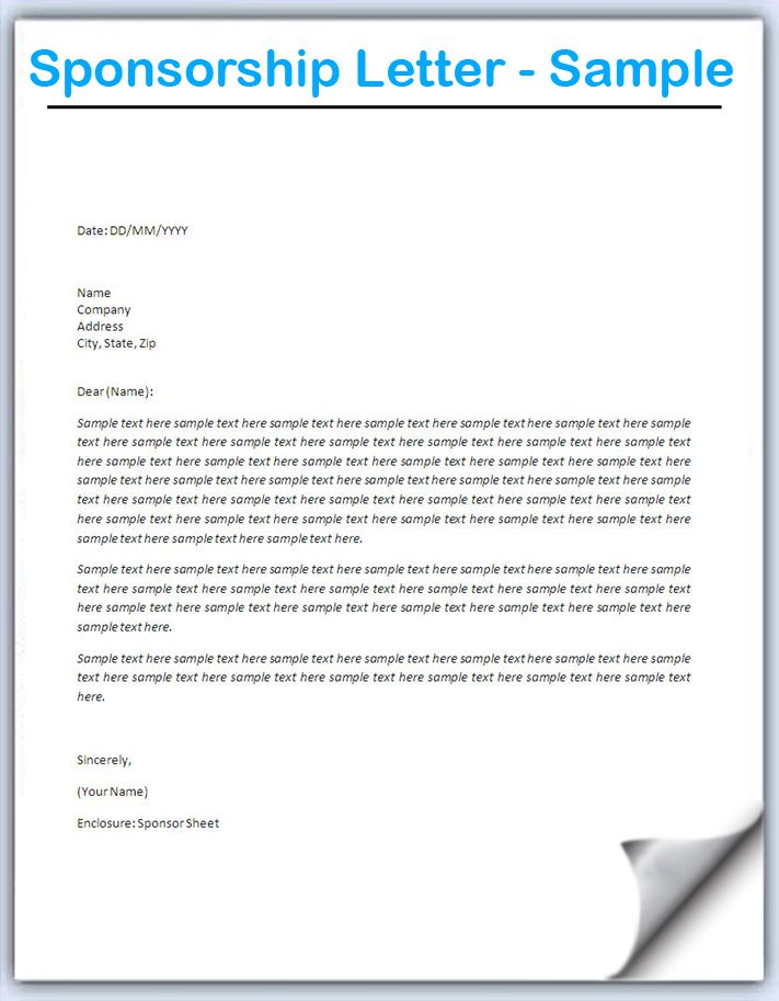 how write letter requesting sponsorship with sample letters - format for sponsorship letter