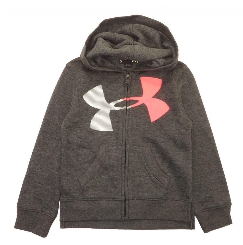 girls under armour zip up hoodie