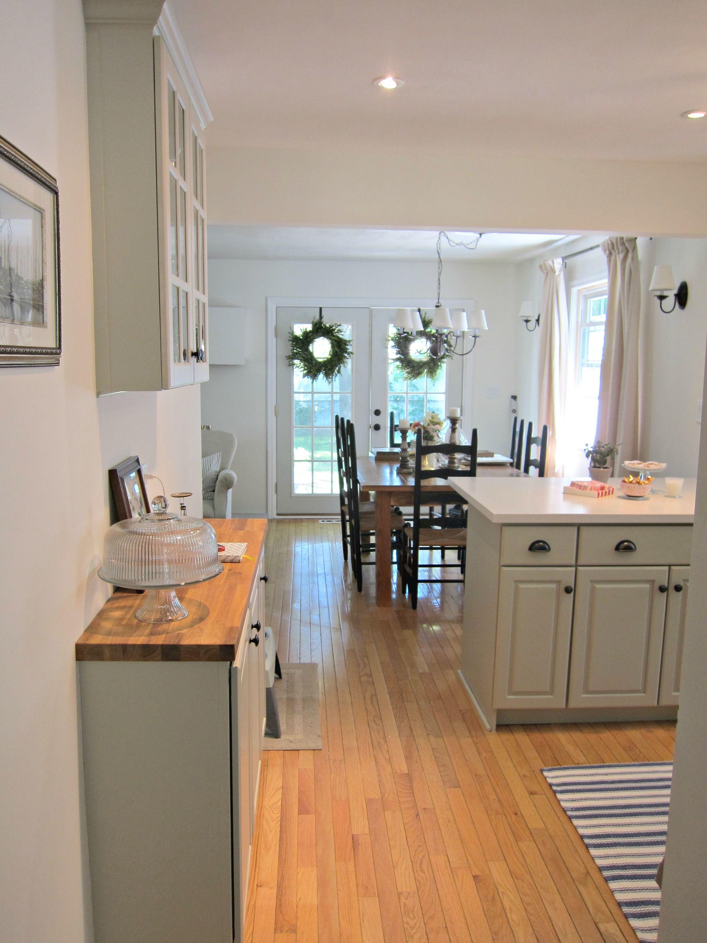 Butcher block buffet, modified & painted IKEA Lidingo cabinet for ...