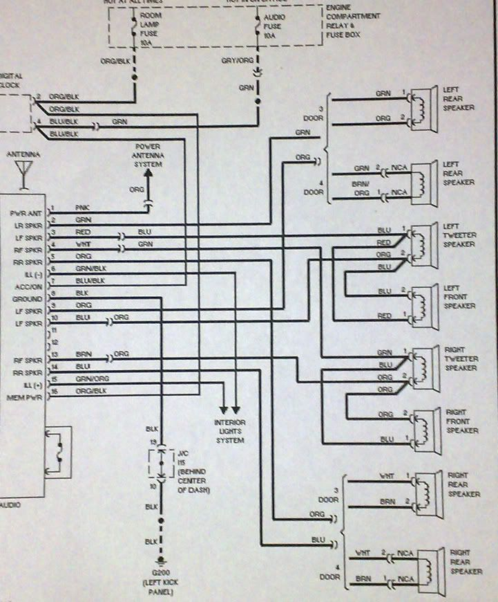 Hyundai Accent Stereo Wiring Diagram | Hyundai accent