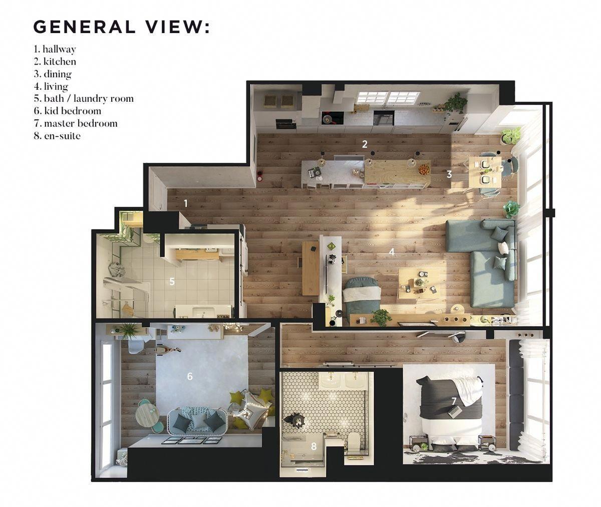 7-Bedroom Modern Apartment Design Under 7 Square Meters: 7 Great